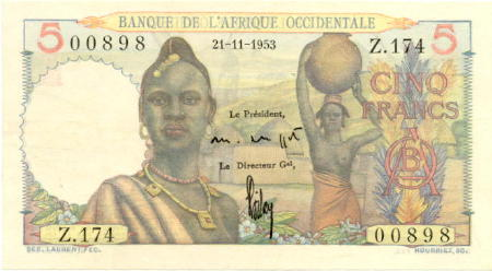 French West Africa French West Africa 5 Francs